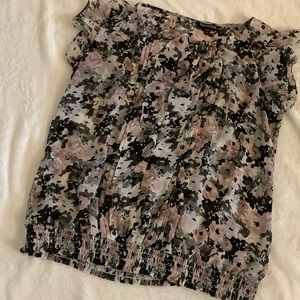 Express Sheer Floral Top size L